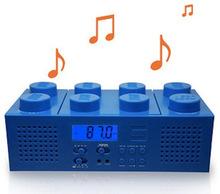 envío gratis genuino lego reproductor de cd/radio/estéreo/bloques de construcción rojo azul jugadores creativos subwoofer salida aux y mp3 caliente(China (Mainland))