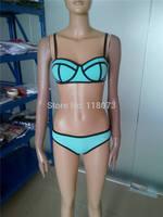Factory Direct NEOPRENE BIKINI Superfly Swimsuit Women's Sexy Triangl Bikini Set Biquini Brazilian ( Top + Bottom)