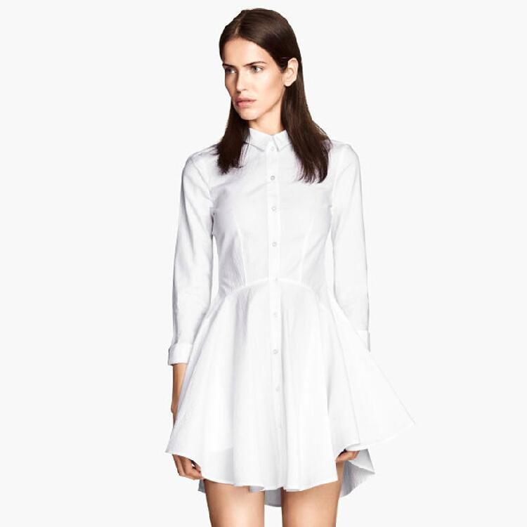 Wonderful WOMEN White Tone On Tone Dress Shirt - Dress Shirts For Men - French-Shirts.com