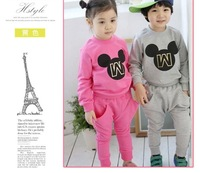 2014 New design fashion Children clothing sets girl sweater+trousers 2 pieces children clothing sport set
