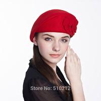 Colorful 100% Wool Floral Women's Fedoras Vintage women's fedora felt wool hat