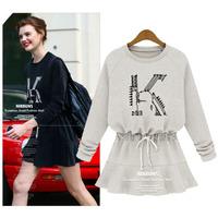 new 2014 autumn winter woman lady printed cotton sweatshirt hoodies fleece basic t shirt casual Long sleeve casual Hoody S~XL