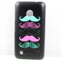 for nokia lumi 530,New Fashion Cartoon Black Colorful Moustache HARD BACK CASE COVER SKIN FOR NOKIA LUMIA 530
