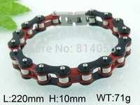 Hot sale Punk fashion personality titanium steel bracelet coarse tread width double refined retro Bracelets Birthday gift