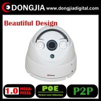 free shipping DA-IP3110HD-POE 1280*720P Mini Dome IP Camera Onvif 2.0 indoor IR Cut night vision P2P With POE
