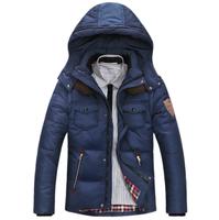 Size M-XXXL / Men's hooded down jacket Winter keep warm down coat thermal Outwear free shipping