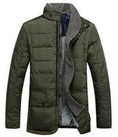 Hot selling / Men's Casual stand collar down jacket warm down coat men's warm Outwear drop ship