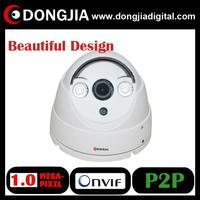 DA-IP3110HD 1280*720P Mini Dome IP Camera Onvif 2.0 indoor IR Cut night vision P2P, free shipping