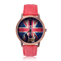 waterproof Fashion Casual national flag watches Men/women quartz watches  zL