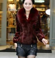 women's fox fur overcoat big size long-sleeve rabbit fur coat outerwear coats coat women