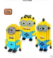 LOZ diamond blocks models & building toys educational enlighten blocks for children gift free shipping super mario minions