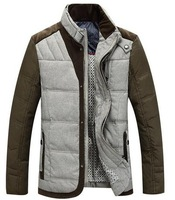 New Europe style Men's Casual down jacket stand collar Winter down coat Male Warm Outwear assorted colors design
