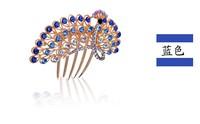 The peacock hair accessories, headwear Korean hair wholesale new diamond comb comb