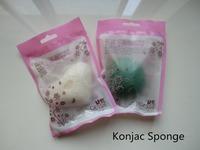 Free shipping 10pcs/lot face care Konjac Sponge Natural Konjac Konnyaku Facial Puff makeup sponge good for face cosmetic