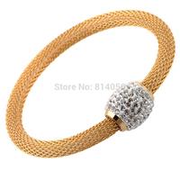 Elegant retro fashion female gold diamond titanium steel bracelet To send his girlfriend a birthday gift