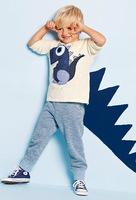 NEXT Kids Autumn Fashion Clothing Baby Cartoon White Color Long Sleeve Boys Girls T shirts Clothes NEXT Free Shipping DA412