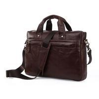 First layer of genuine leather man shoulder messenger bags handbags computer bag briefcase
