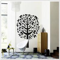 The new 2013 super beautiful bird tree wall wall stickers AY7081 sitting room sofa TV setting wall
