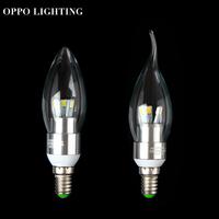 free shipping 2pcs/lot led candle light led bulb lamp tubes Warm White Cool White e14 led 220v 3w SMD5730