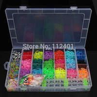 22 Colors Rubber Loom Bands DIY Bracelet Making Kit Set With Clips