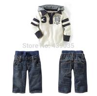 017 retail autumn baby boy's 2pcs suit sets kids Children's sport tracksuit sets casual long sleeve hoody jackets+trousers pants