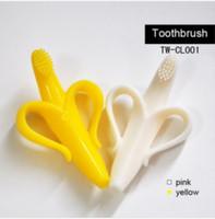 DHL Free shipping Fun Banana Teething Toothbrush Baby teether kids toothbrush child chews baby teeth stick baby bite 130pcs/lot
