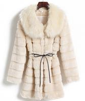 2014 Three color Autumn and winter faux fur vest faux fox fur vest slim fur coat women winter vest xxl