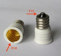 100PCS,E12 TO E14 adapter Conversion socket High quality material fireproof material E12 TO E14 socket adapter Lamp holder