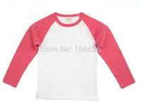 #4500 2T-8T spring autumn kids garment children clothing boys/girls cotton o-neck long sleeve cartoon cute t-shirts