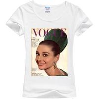 Track Ship+New Vintage Retro Cool Rock&Roll Punk T-shirt Top Tee Vogue I am Your Angel Audrey Hepburn