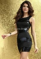 vestidos de fiesta girls dresses summer 2013 real autumn -summer Dear-lover New Sexy Black Tank Club Dress