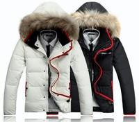 2014 New arrival Men's thicking coat winter down jacket overcoat outwear winter big Fur Collar Duck Down Jackets Coat waterproof