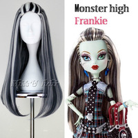 ombre rosa Movie Monster High Frankie Stein Wig no Lace Front made Kanekalon synthetic fibre wigs