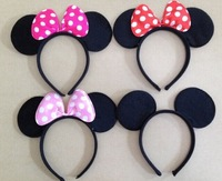 high quality kids birthday party supplies  Accessories Minnie & mickey Mouse ear Baby Hair Accessories Girls Headband
