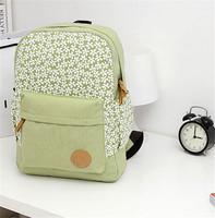 1pc/lot Fashion Floral Canvas Backpack Cute Flowers Book Satchel Campus Bag Women Knapsack Rucksack Schoolbag IC640608