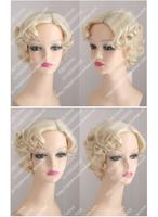 Monroe Wig Retro Wave Volume Female Short Hair Wig no Lace Front made Kanekalon synthetic fibre wigs