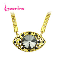 Simulated Gemstone Jewelry Colar Fashion White Black Necklace Women Wedding Accessories