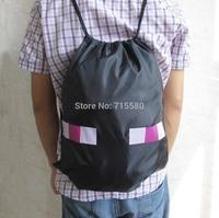 "New Minecraft Creeper Black Backpack Bag 16"""