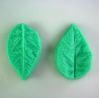 1set/lot 2pcs 3D Leaf Veiner Shape Silicone Cake Mould Fondant Decorating Styling Bakeware Tools IC870722