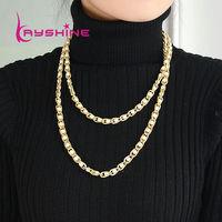 Fashion Bijoux Women Unique Gold Color Waved Collar Necklace