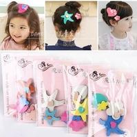 Children posting a pack of three headdress hair accessories Price hairpin hairpin cute cartoon baby girls Acrylic