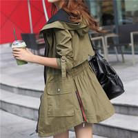 2014 Autumn Brand Quality Women Coat Plus Size L-XXXL Long Trench Jacket Casual Loose Coat Casacos Femininos Cardigans Outwear