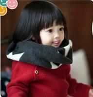 5pcs/lot Star design baby winter woolen scarf neck wraps kid neckerchief muffler 2-7years free shipping