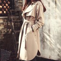 2014 New Fashion High Quality Women Coat Plus Size XXXL Trench Jacket Casual Loose Coat Casacos Femininos Cardigans Outwear