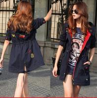 2014 Autumn Brand Quality Women Coat Plus Size M-XXL Long Trench Jacket Casual Loose Coat Casacos Femininos Cardigans Outwear