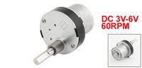 DC 3V-6V 60RPM Gear Motor Torque Electric Speed Reduce Motor