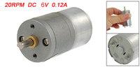 25mm Diameter Gear Box DC 6V 0.12A Speed Reducing Motor
