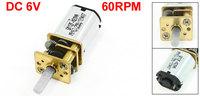 60RPM Speed Reducer Rectangle Shape N20# Magnetic Mini Geared Motor 6V DC