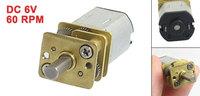 3mm Dia Shaft 6V 60RPM 2 Pins Magnet Mini DC Geared Motor