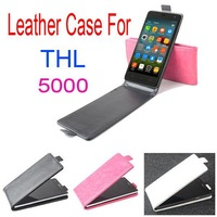Free shipping For THL 5000 protective case Up and Down Flip PU Leather Case